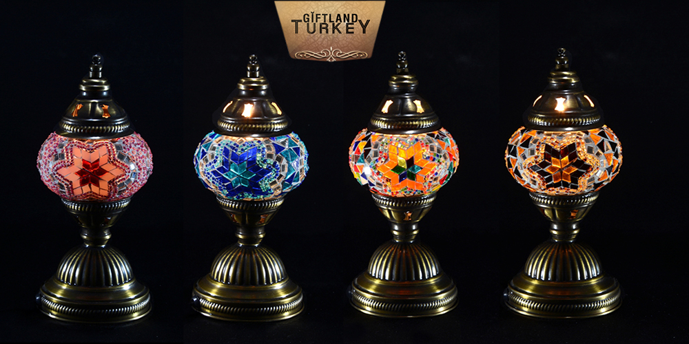 Mosaic Table Glass Lamp Size 1