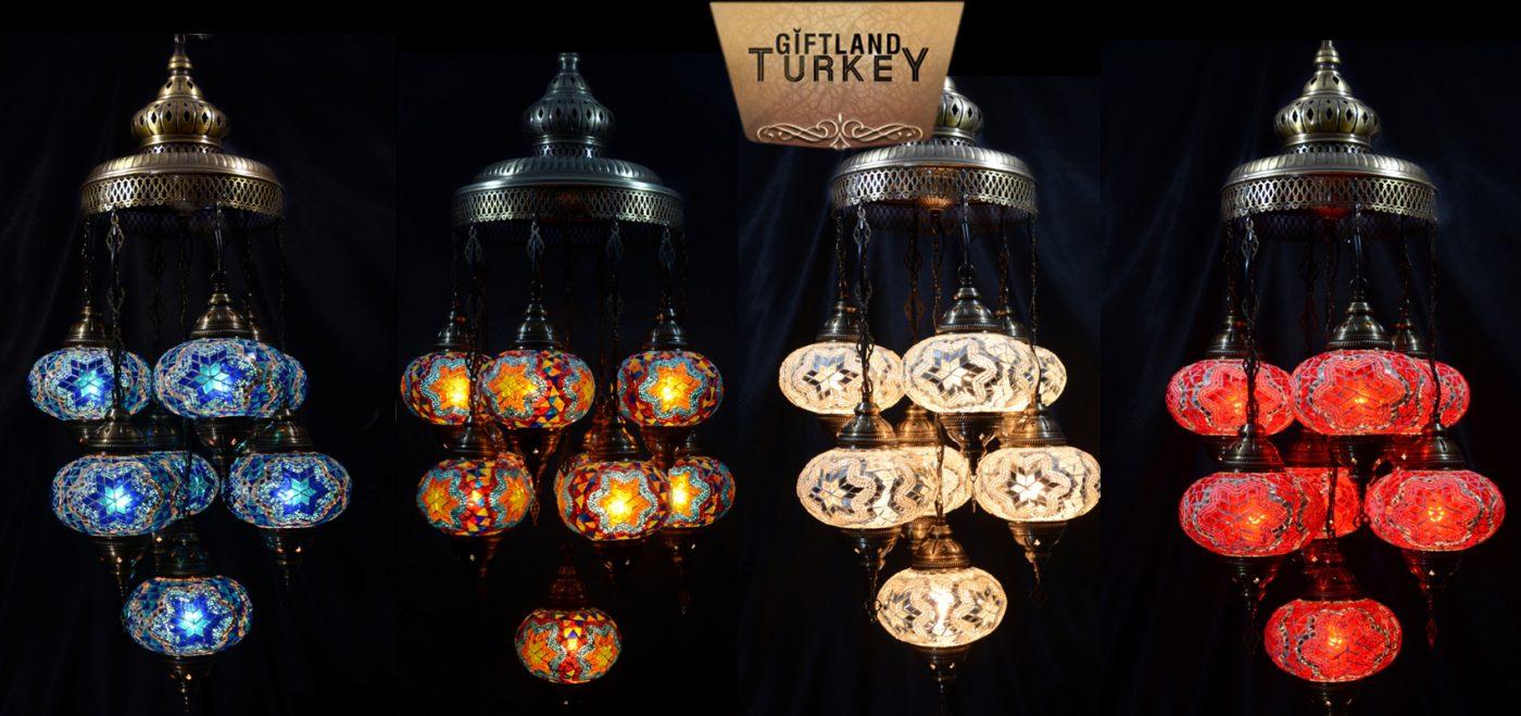7 mosaic lamp model