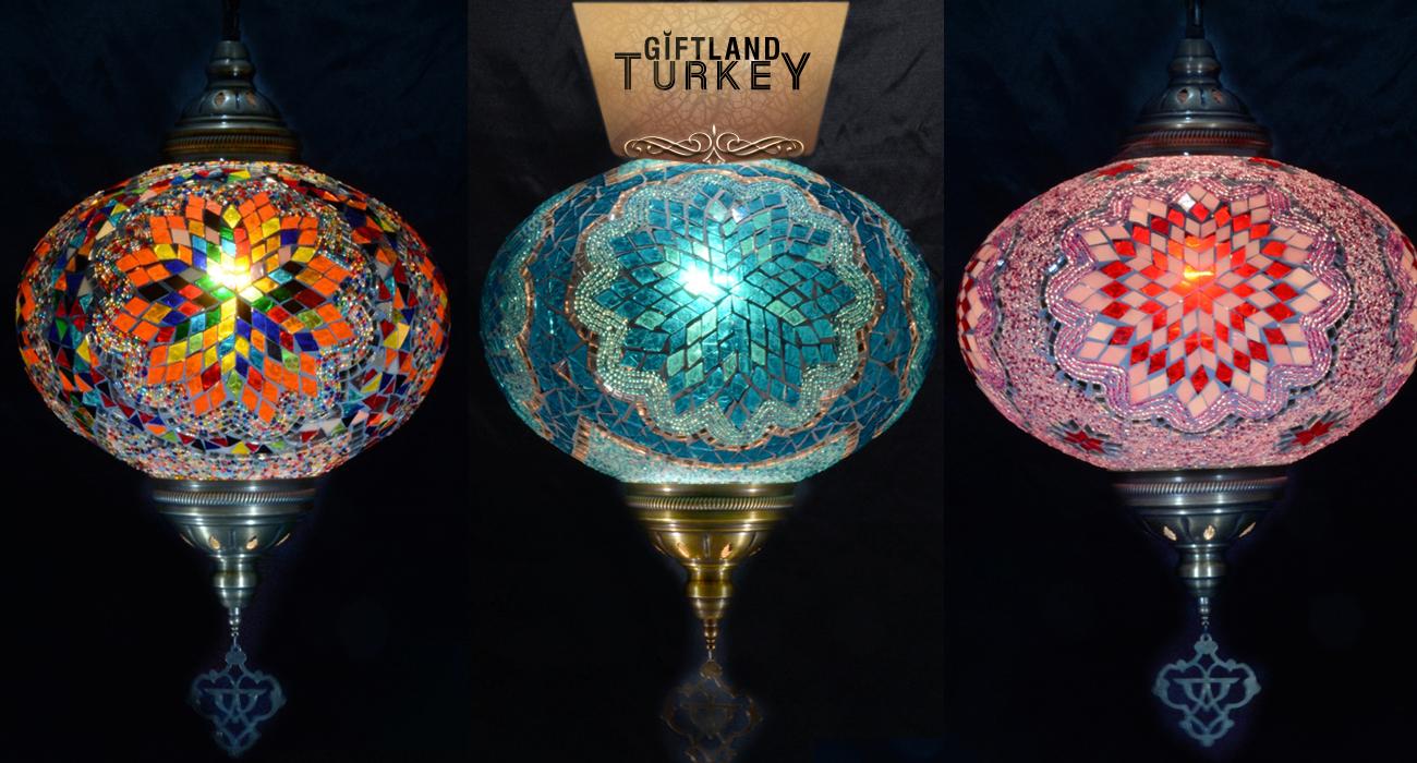 Single Chain Mosaic Lamp Size 6