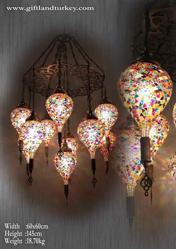 Handmade Pendant Mosaic Lamp